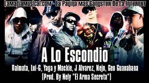 J Alvarez Ft. Ñejo y Dalmata, Lui-G, Yaga Mackie y Georgie Guanabanas - A Lo Escondio MP3